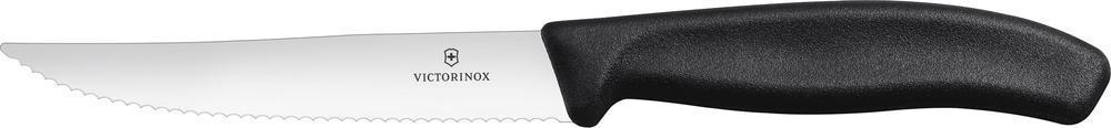 Нож Victorinox для стейка, волнистое лезвие, чёрный (6.7933.12) - Wenger-Victorinox.Ru