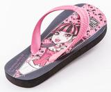 Шлепанцы Монстер Хай (Monster High) пляжные сланцы для девочек, цвет черный розовый. Изображение 1 из 10.