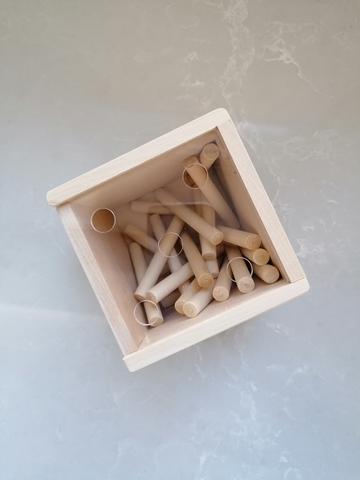 Счетный материал Палочки в коробочке-сортере