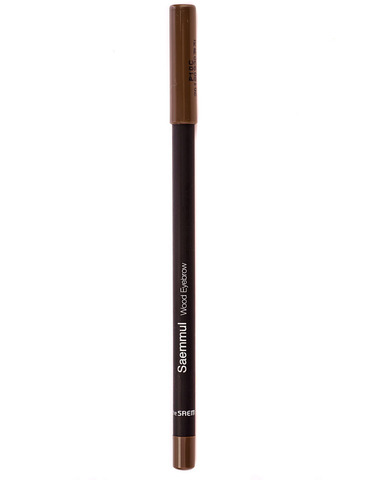 Карандаш для бровей The Saem Saemmul wood eyebrow 03.black brown