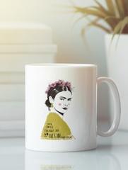 Кружка с рисунком Фрида Кало (Frida Kahlo) белая 005