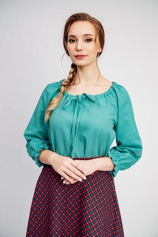 Льняная блуза свободный крой