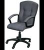 Фортуна-4 Кресло для руководителя (серая ткань, крестовина пластиковая, подлокотники черные пластиковые)