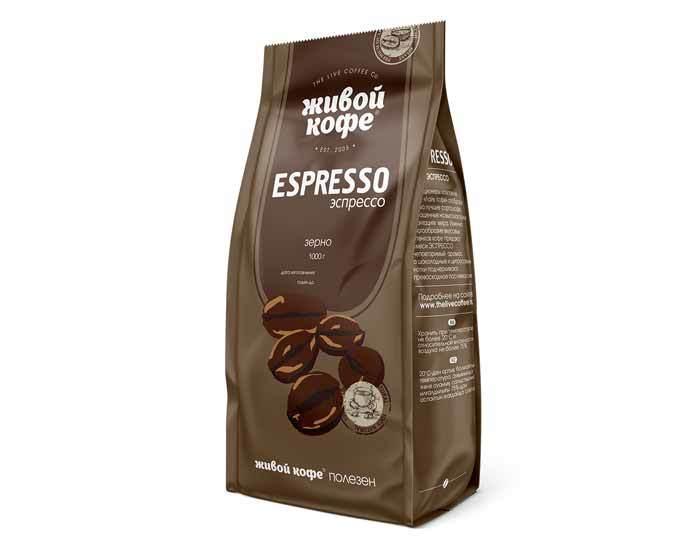 Кофе в зернах Живой Кофе Espresso, 1 кг
