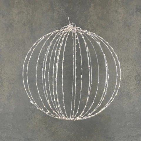 Подвесной серебряный шар с лампами белый свет, для наружного и внутреннего использования