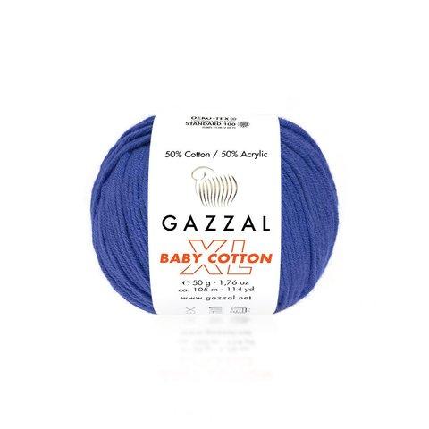 Пряжа Gazzal Baby Cotton XL 3421 электрик