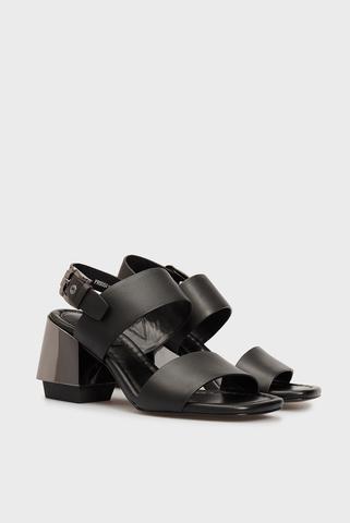 Женские черные кожаные босоножки Sofía PRPY