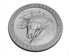 Силиконовый молд  № 0327 медальон Голова коня