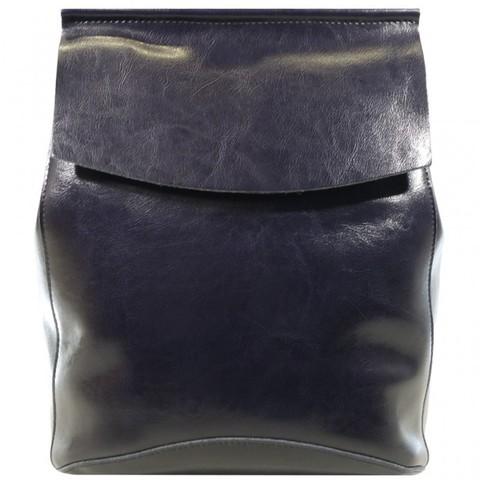 Женский синий рюкзак из кожи 2191