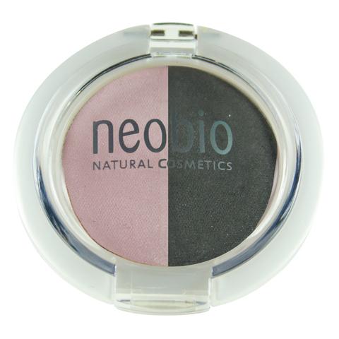 Neobio Двойные тени для век 01 розовый бриллиант