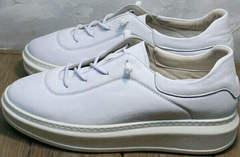 Модные белые кроссовки на толстой подошве женские Rozen M-520 All White.