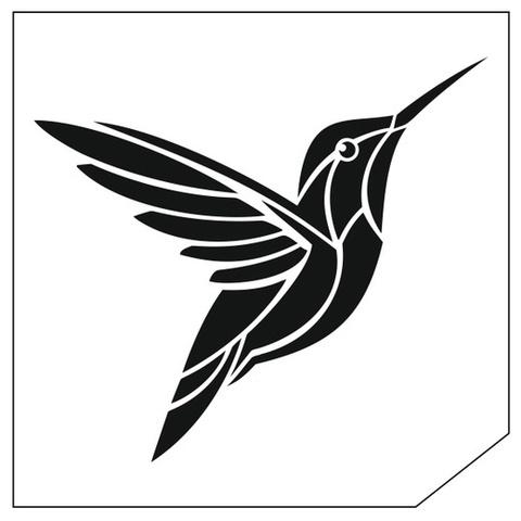 Трафарет для блеск-тату 6*6 птица 47П