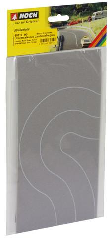 Поворот дороги, серый - 6,6 см, (H0)