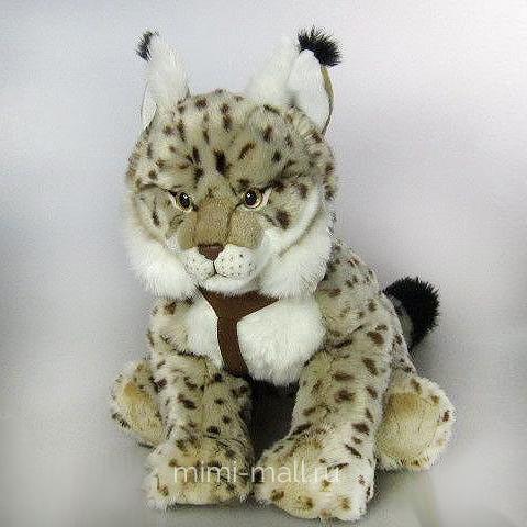 Мягкая игрушка Рысь 40 см (Leosco)
