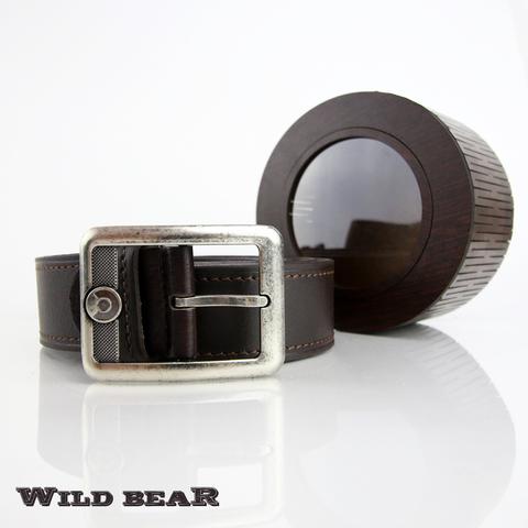 Ремень WILD BEAR RM-006f Brown Premium