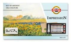 Набор красок масляных художественных IMPRESSION, 10 цветов и принадлежности