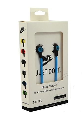 Наушники вакуумные Nike motion NK-96 blue (клас А)