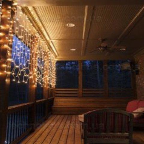 LED  Гирлянда штора 2 на 1,5 метра 380 лед