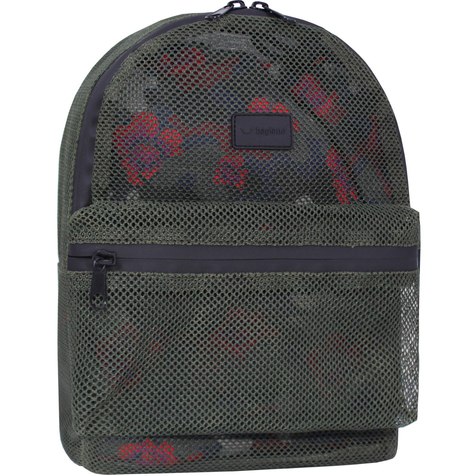 Модные рюкзаки Рюкзак Bagland Grid 8 л. хаки  (0019204) IMG_9055.JPG