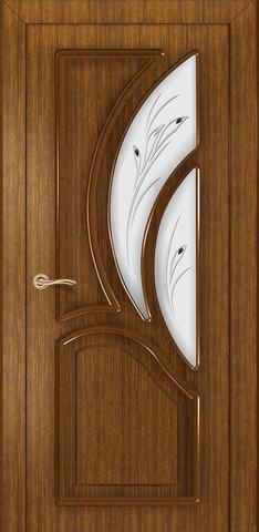 Дверь Румакс Карелия-2 ДО, цвет орех, остекленная