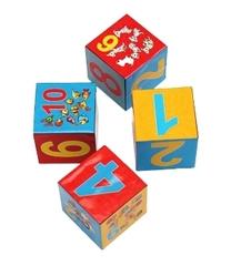 K04-8206 Кубики пластиковые 4 шт., Учим счёт