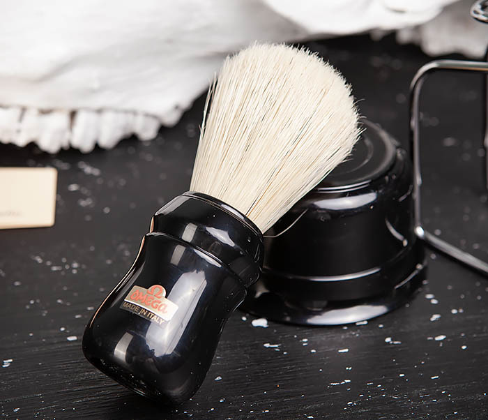 RAZ410-1 Набор для бритья из помазка, чаши и подставки фото 06