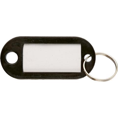 Бирки для ключей пластиковые черные (10 штук в упаковке)