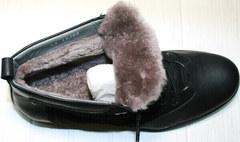 Мужские зимние ботинки на меху Luciano Bellini 6057-58K Black Leathers & Nubuk.