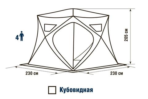 Палатка HIGASHI Winter Camo Pyramid Hot