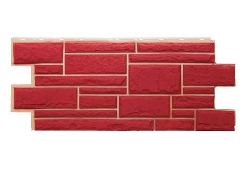 Фасадная панель Дикий Камень - Красный