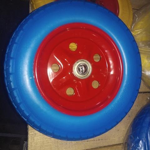 Колесо бескамерное универсальное 3,00-3,50-4,00-8 (16) Желтое,Черное,Синее