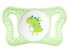Chicco. Пустышка Physio Micro для принца силиконовая, 1уп/2 шт, 0-2 мес. динозавр