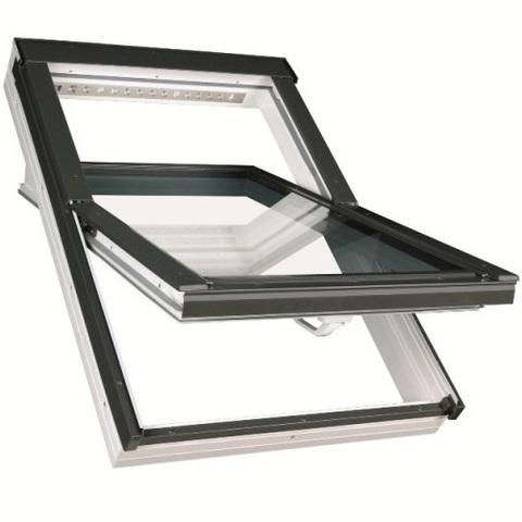 Мансардное окно Факро PTP-V U3 ПВХ Profi 66х118