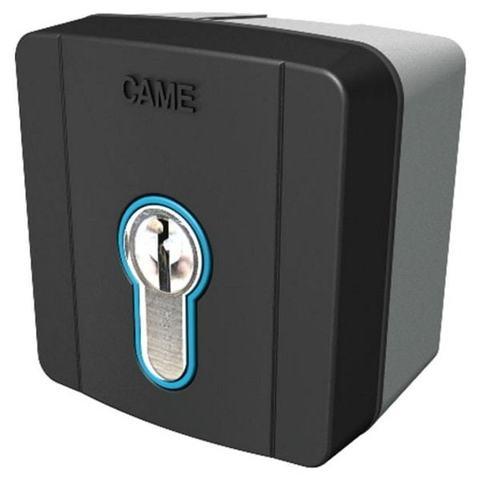 SELD1FDG - Ключ-выключатель накладной с цилиндром замка DIN и синей подсветкой Came