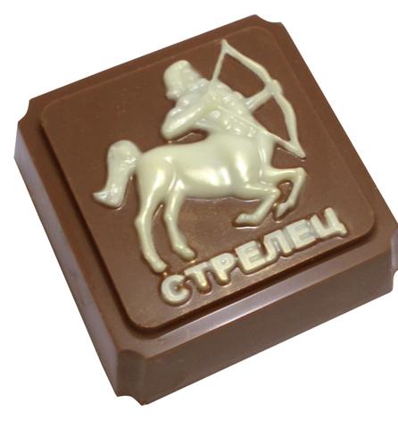 Пластиковая форма для шоколада ЗНАК ЗОДИАКА СТРЕЛЕЦ (65х65мм)