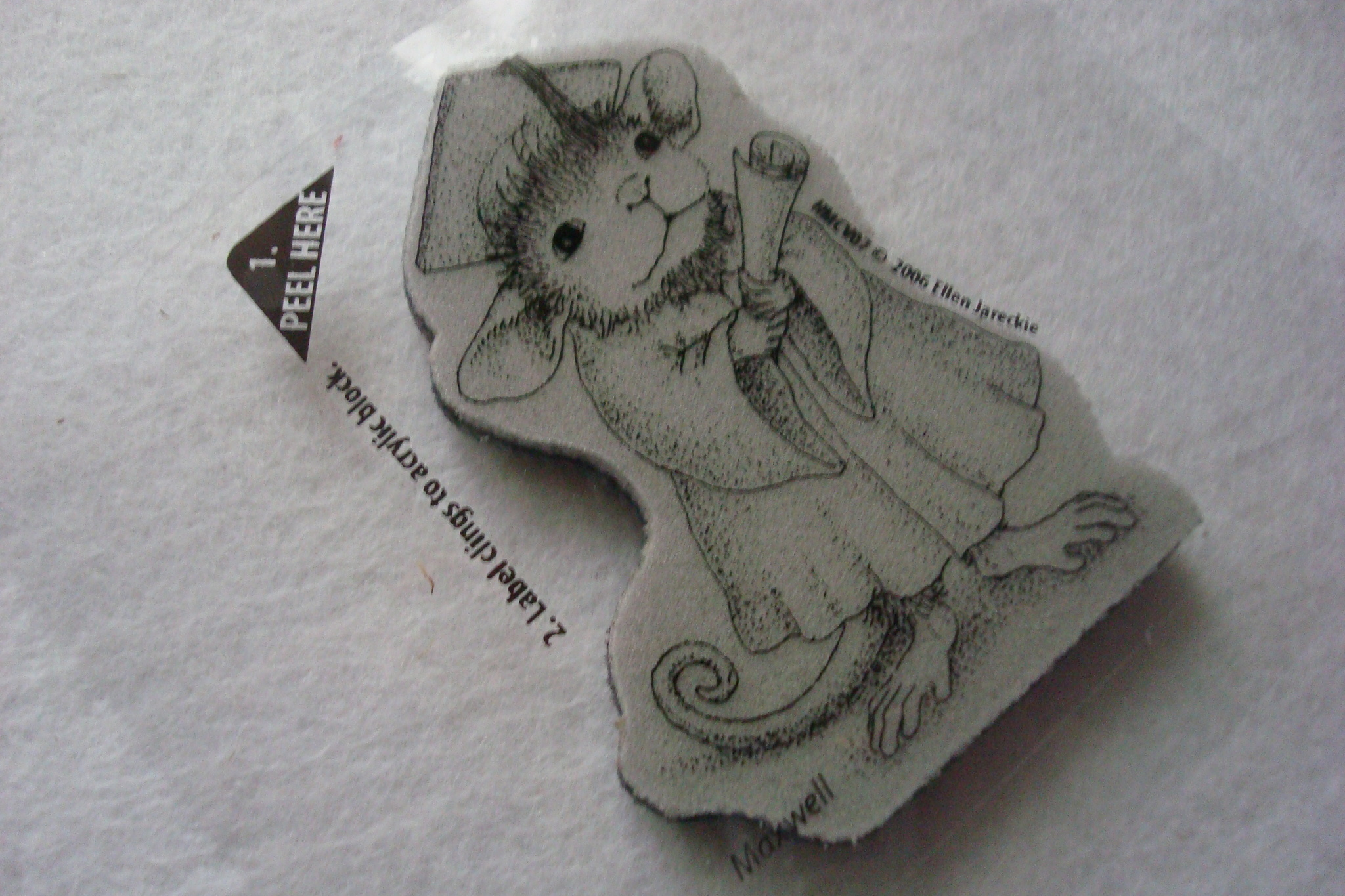 Резиновый штамп «Ученая мышка»