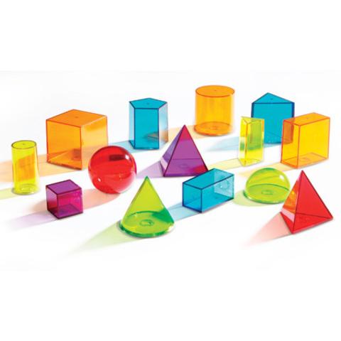 LER4331 Набор объемных геометрических фигур, 14 шт. Learning Resources