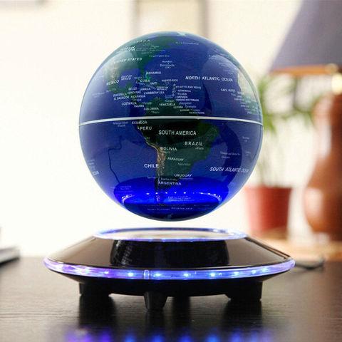 Летающий глобус на подставке (синий)