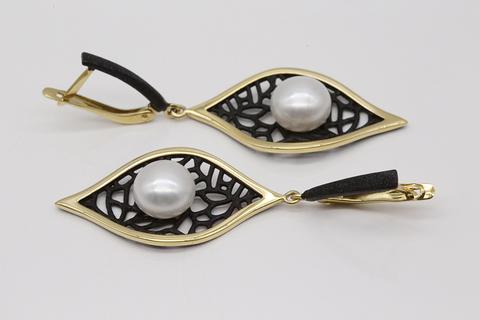 Серьги из серебра с жемчугом 52842Y1B DE Fleur