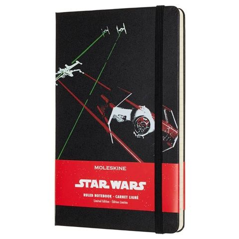 Блокнот Moleskine Limited Edition STAR WARS LESWC01QP060 Large 130х210мм 240стр. линейка черный Ships