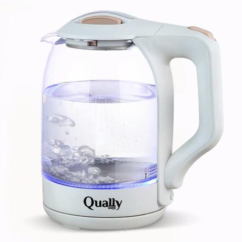 Чайник электрический Qually KL-1880,1500Вт 1,8л,стекло,белый