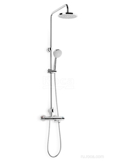 VICTORIA-T Душевая стойка с верхним душем и термостатическим смесителем с изливом Roca 5A2718C00 фото