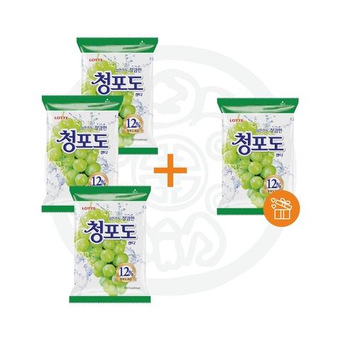 3 + 1 Карамель леденцовая Green Grape Candy 153г Lotte Корея