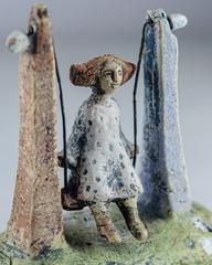 Скульптура из шамотной глины «Качели», 13х13 см, Falco Ceramic
