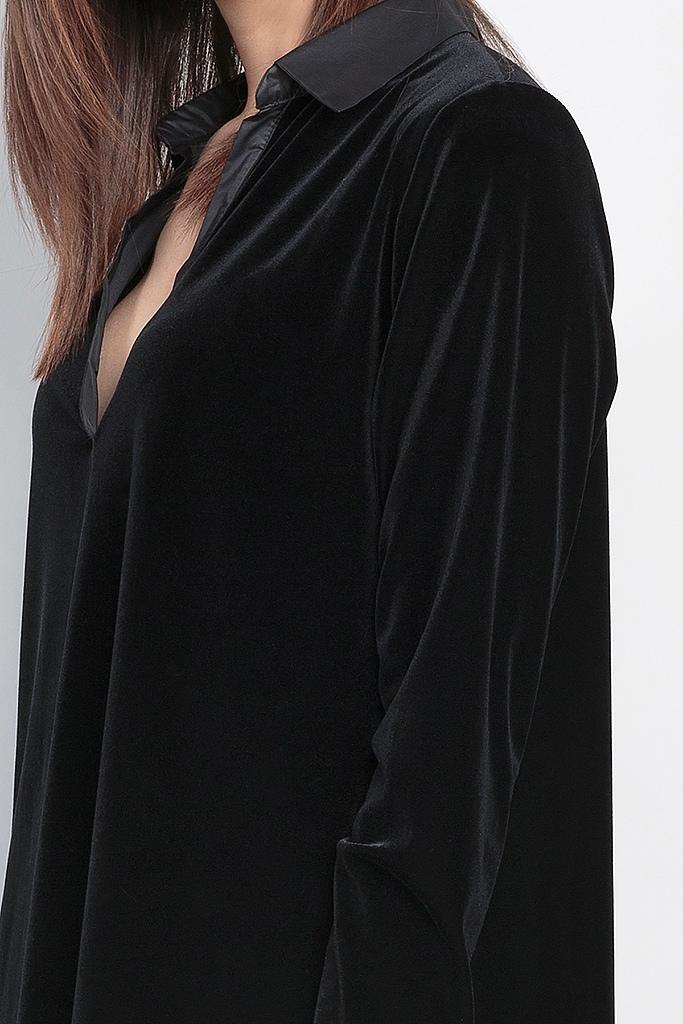 Удлиненная велюровая рубашка Cocoba