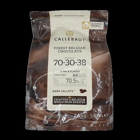 Горький бельгийский шоколад (таблетки) 70.5% BARRY CALLEBAUT, 2.5 кг