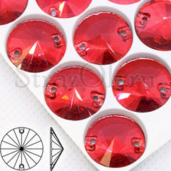 Купить в Краснодаре стразы пришивные оптом Coral Red Rivoli красные