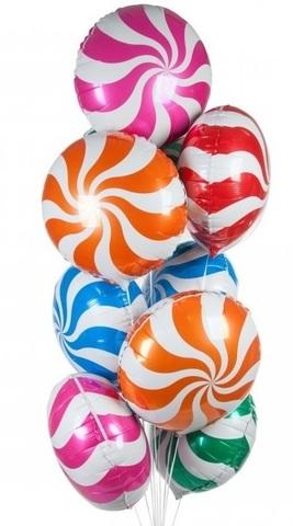 Круг в виде конфетки-леденца 46 см