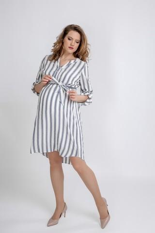 Платье для беременных 09593 полоска
