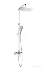 EVEN-M Square Душевая стойка со смесителем с полочкой, регулируемая высота 5A9B90C00 фото